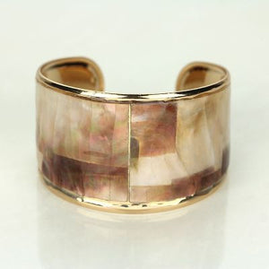 Mother Of Pearl Fashion Cuff Bracelet - The Blue Attic