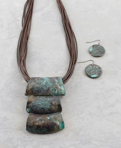 Rustic Pendant Necklace Set - The Blue Attic