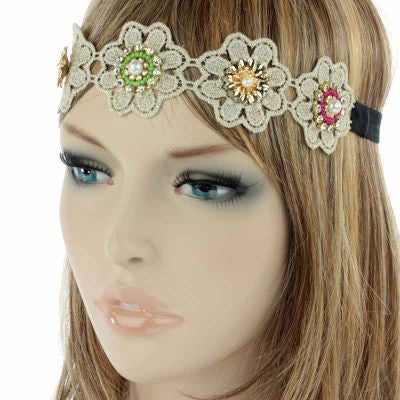 Multi Flower Stretch Headband - The Blue Attic
