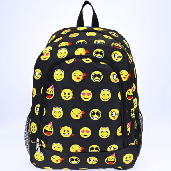 Full Size Two Pocket Emoji Backpack - The Blue Attic