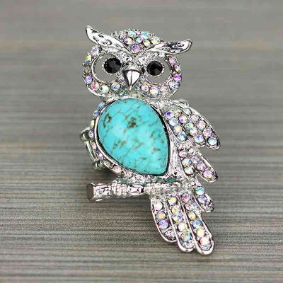 Bling Owl Stretch Ring - The Blue Attic