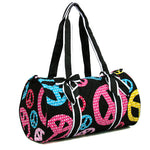 Peace Sign Duffle Bag - The Blue Attic