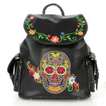 Floral Skull Backpack - The Blue Attic