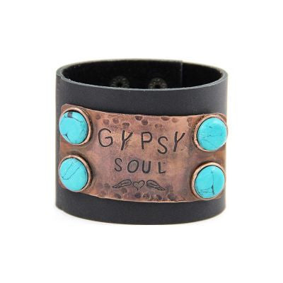 """Gypsy Soul"" Snap Fashion Bracelet - The Blue Attic"