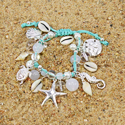 Beach Theme Fish Charm Bracelet - The Blue Attic