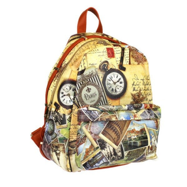 Paris Print Backpack - The Blue Attic