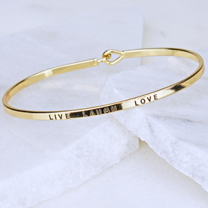 """Live"", ""Laugh"" ""Love"" Bangle Bracelet - The Blue Attic"