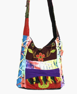 Bohemian Flower Patchwork Handbag - The Blue Attic