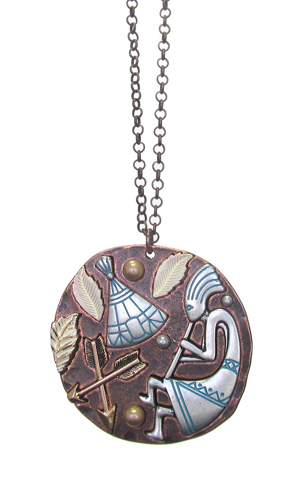 Kokopelli Pendant Necklace - The Blue Attic