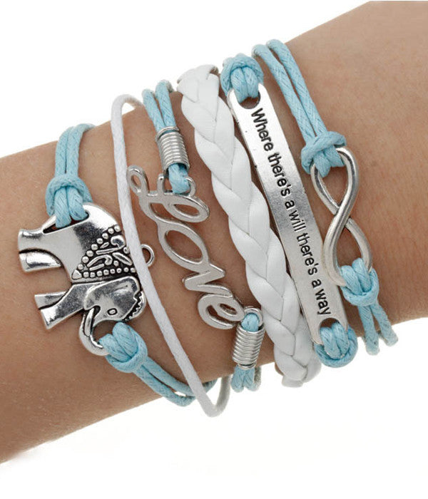 Boho Elephant Wrap Bracelet - The Blue Attic