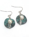 Metal Pearl Drop Earrings - The Blue Attic
