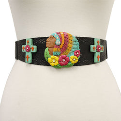 Native American Decorated Belt - The Blue Attic