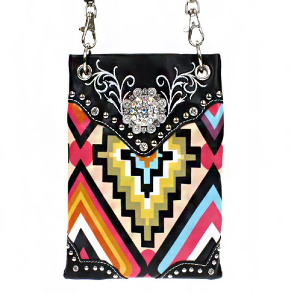 Concho Tribal Print Hand Bag - The Blue Attic