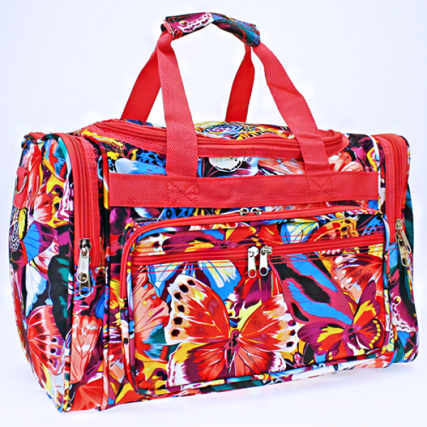 Butterfly Print Duffle Bag - The Blue Attic