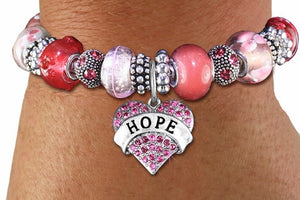 "Austrian Crystal ""HOPE"" Heart Bracelet - The Blue Attic"