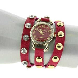 Crystal Stud Snap Button Watch - The Blue Attic