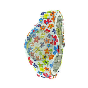 Flower Metal Watch - The Blue Attic