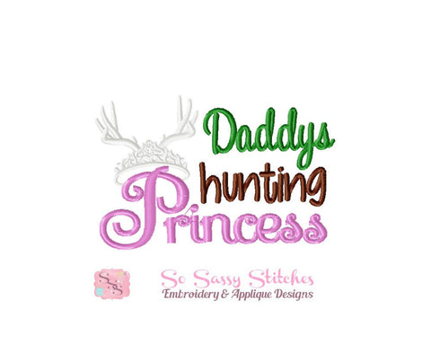 Princess Embroidery Design Daddys Hunting Princess Embroidery