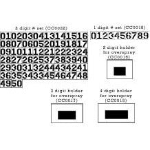 2 Digit Number Set Stencils(00-25)