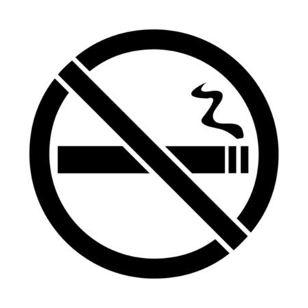 No Smoking Sign Symbol Stencil