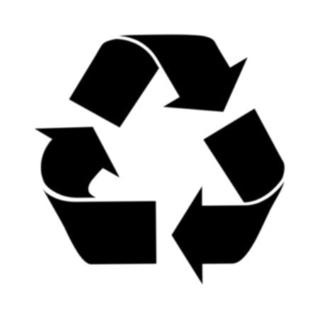 Recycle Sign Symbol Stencil
