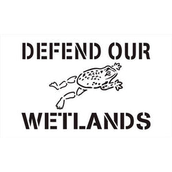 Defend our Wetlands, Storm Drain Stencil