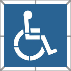 Handicap Parking Stencil 2 Part