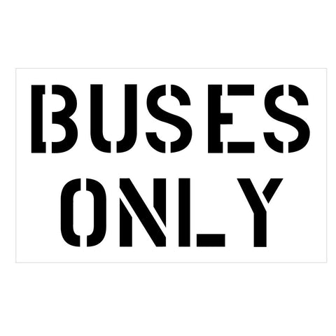 BUSES ONLY School Safety Stencil