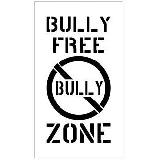 BULLY FREE ZONE School Safety Stencil