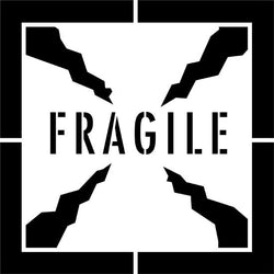 Fragile Shipping Stencil