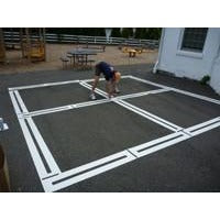 Four-Square Playground Stencils