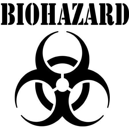 Biohazard Safety Symbol Stencil