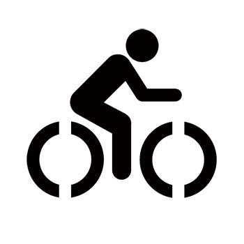 Bicycle Trail Recreational Guide Symbols  Stencil