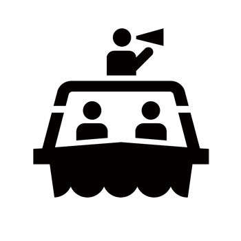 Tour Boat Recreational Guide Symbols