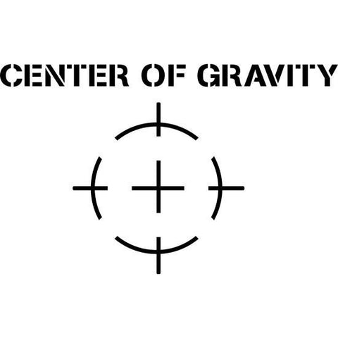 Center of Gravity Shipping Stencil