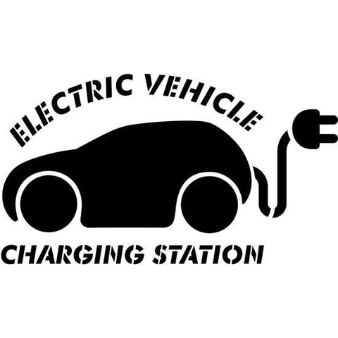 Electric Car Charging Station Stencil
