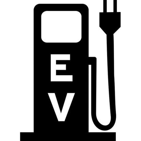 Electric Vehicle Charging Station Pump Stencil - solid