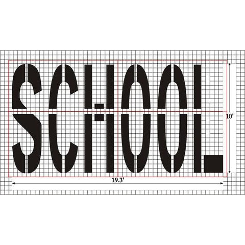 SCHOOL - Federal Specification MUTCD standard Pavement Marking Stencils