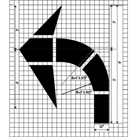 Turn Arrow - Federal Specification MUTCD standard Pavement Marking Stencils