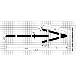Freeway, Expressway and Ramp Arrow - Federal Specification MUTCD standard Pavement Marking Stencils