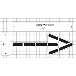 Wrong Way Arrow - Federal Specification MUTCD standard Pavement Marking Stencils