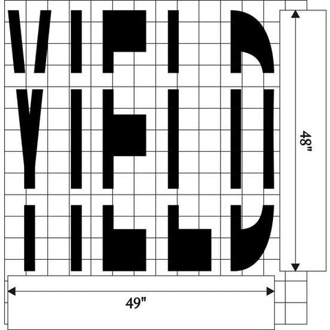 YIELD - Federal Specification MUTCD standard Pavement Marking Stencils