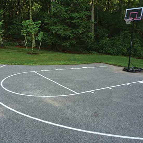 High School Basketball Court Stencil