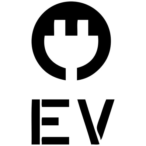 Electric Vehicle Charging Station EV with Plug Stencil