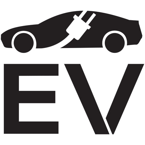 Electric Vehicle Charging Station EV Car with Plug Stencil