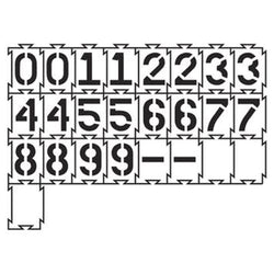 Quadra-Lock Number Stencils