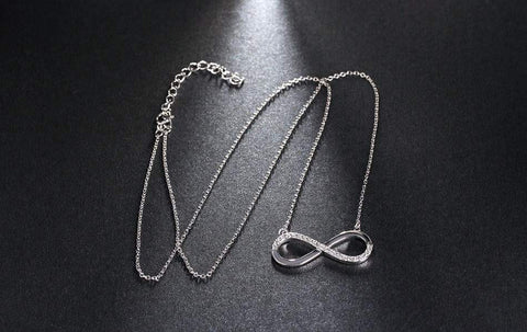 Infinity Pendant Platinum Plated Necklace - Surpriceme.com