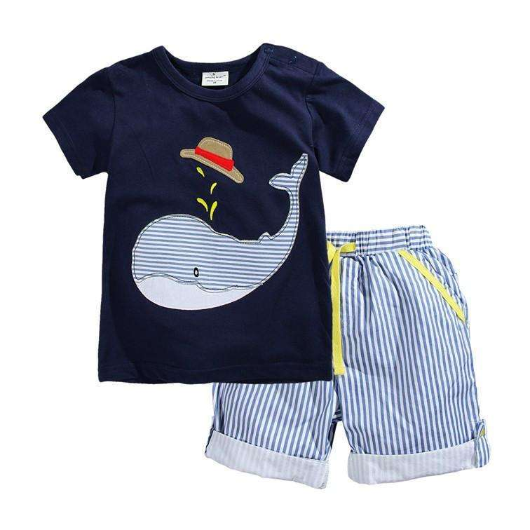 Boys Summer Cotton T-Shirt & Shorts - Surpriceme.com