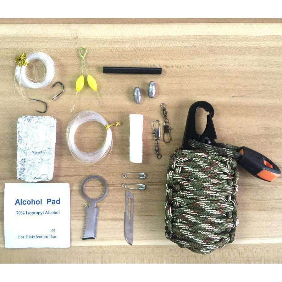 12 in 1 Paracord Survival Kit for Camping, Hiking, Hunting, Travelling - Surpriceme.com