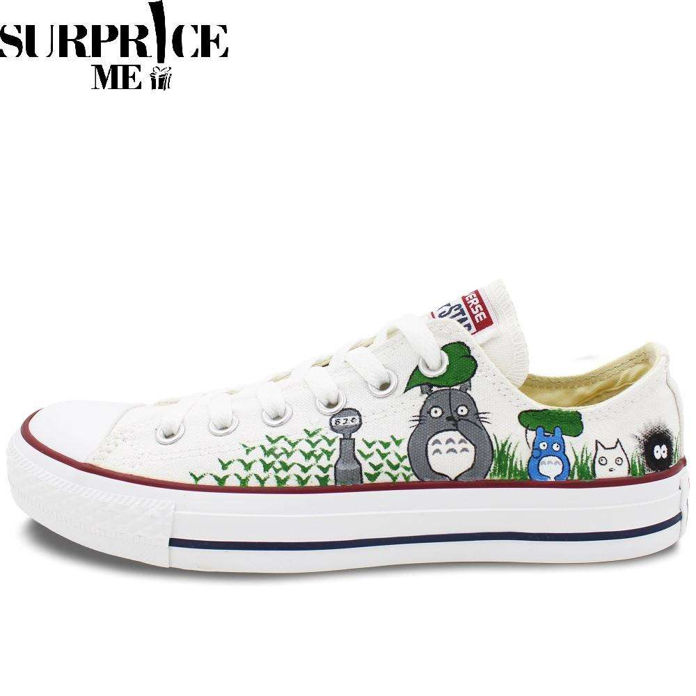 Converse All Star - Hand Painted My Neighbor Totoro Design Shoes - Surpriceme.com